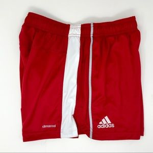 Adidas Climacool Red Athletic Shorts Women's Med
